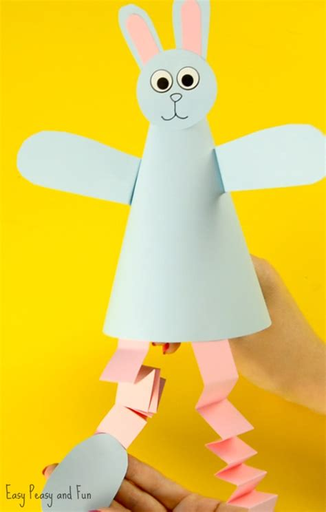 Paper Cone Craft - paper cone bunny craft easy peasy and