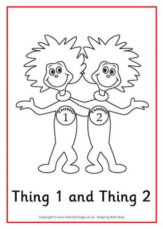 thing 1 and thing 2 card templates dr seuss colouring pages