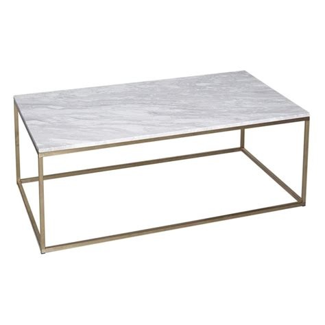 White Rectangular Coffee Table Buy White Marble And Gold Rectangular Coffee Table From Fusion Living