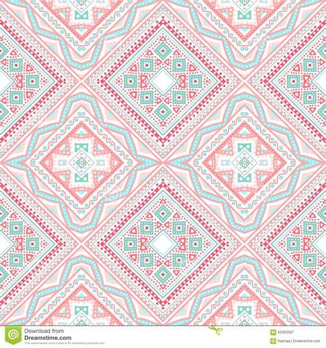 tribal pattern pink and blue tribal ethnic corner pattern illustration stock