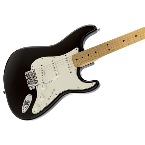 fenstermaße fender standard stratocaster mn black at gear4music