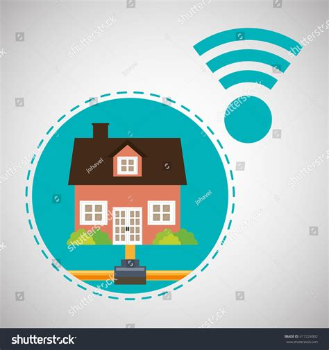 Home Automation Design Smart House Icon Stock Vector Home Automation Design