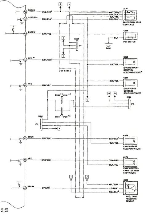1999 honda accord ecu wiring diagram honda wiring
