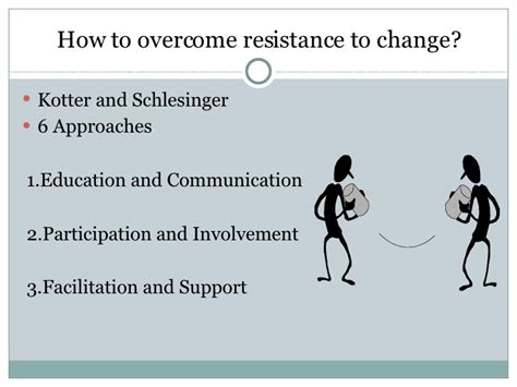 what are resistors to change overcoming resistance to change