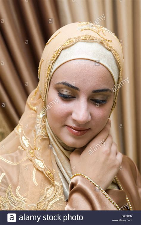 beautiful muslim beautiful muslim wearing stock photo royalty