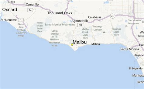 california map malibu malibu california map