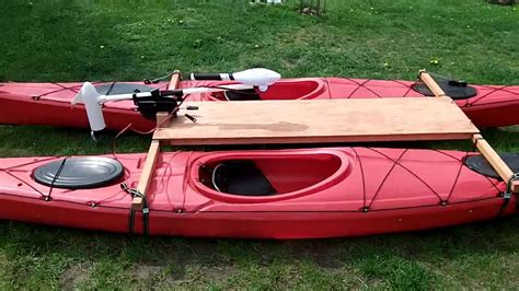catamaran kayak kayak catamaran with electric trolling motor haswing