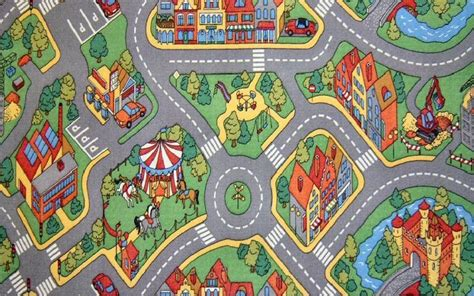 Childrens Play Rugs by Childrens Play Rug Mat City Roads Non Slip Backing