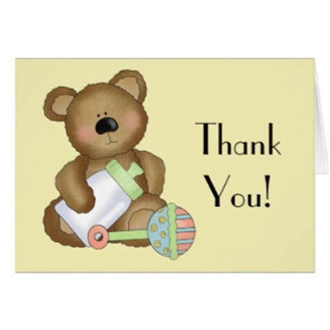 Teddy Thank You Card Template by Teddy Thank You Cards Teddy Thank You Card