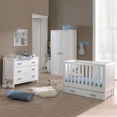 chambre compl鑼e enfant chambre pour b 233 b 233 compl 232 te en pin massif blanc laqu 233 marin