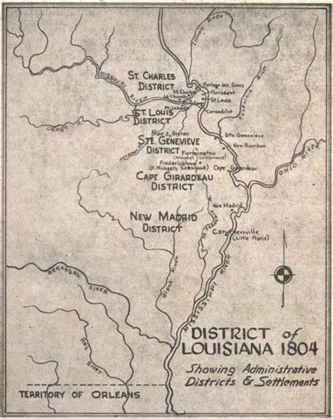 Jefferson County Mo Records 1804louisianaterritorymap Missouri Jpg
