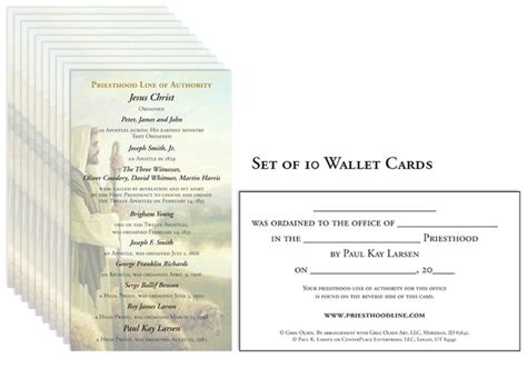 template for ordianation wallet cards 1000 images about priesthood line of authority on