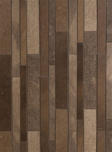 lucca textured linear mosaic 1 1 1 4 and 2 x 12 in autumn brown modern wall and