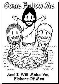 coloring pages jesus follow me best 25 fishers of ideas on matthew 4