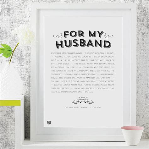 for husband for my husband wedding poem print by pearl and earl
