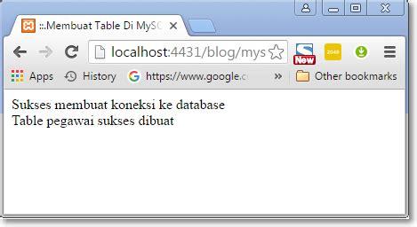 cara membuat database di mysql query cara membuat table di mysql menggunakan php nursalim