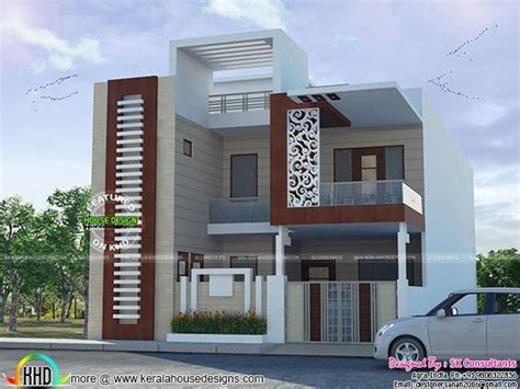 2547 square feet exterior home elevation house design plans 518 best house elevation indian compact images on