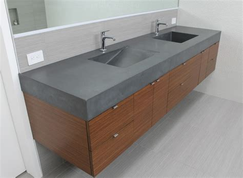 concrete bathroom vanity charcoal concrete double sink vanity