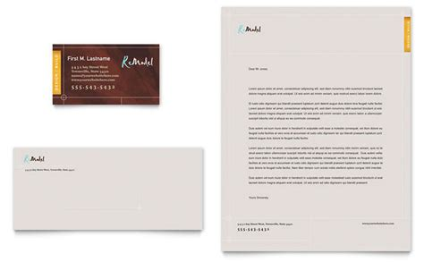 home remodeling business card templates home remodeling business card letterhead template design