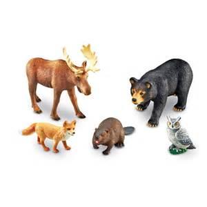 Bath Gift Set Jumbo Forest Animals 5 Pc Wild Animal Figurines Set Educational Toys Planet