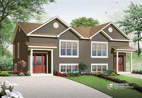 duplex style multi family plan w3062 detail from drummondhouseplans com