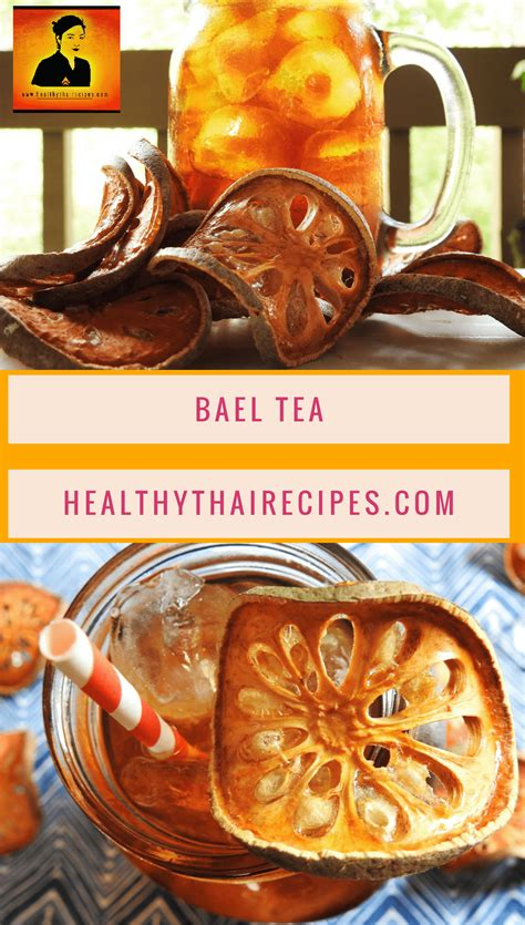 fruit tea recipe bael fruit tea healthy thai recipes