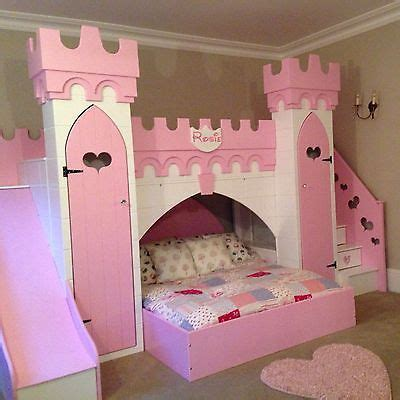 Princess Bed With Slide by Princess Castle Bed With Slide Play Area Other Bed Above