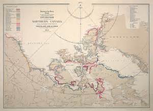 map of northern canada and alaska explorations in northern canada and adjacent portions of