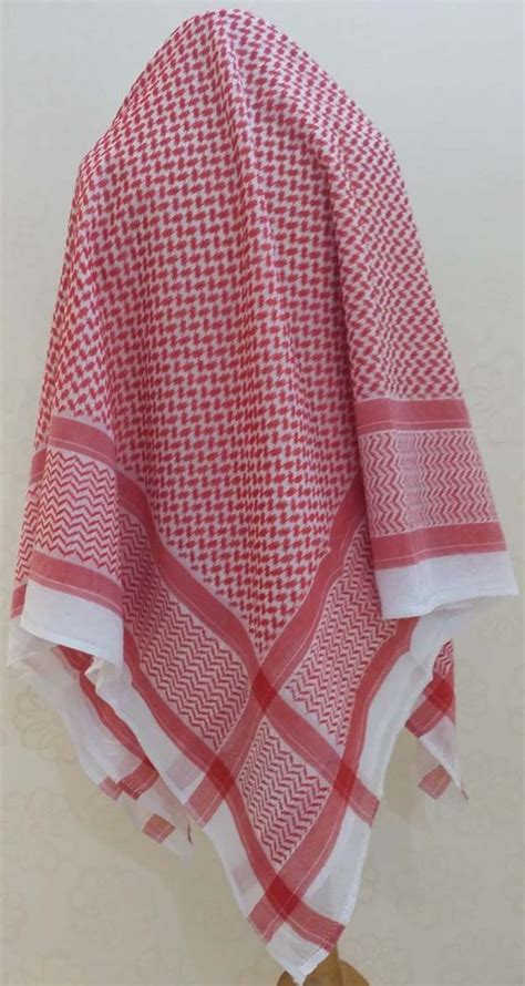 arab scarf pattern meaning men s arab quot shemagh quot head scarf red and white shemagh
