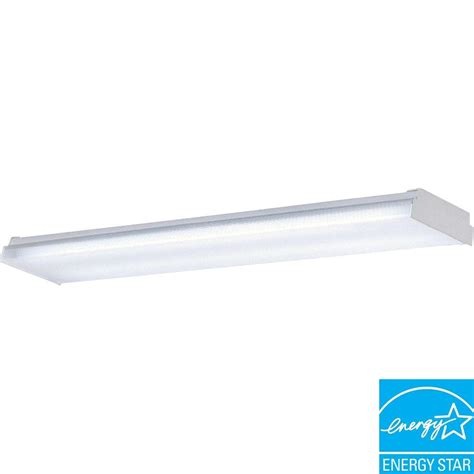 2 Light Fluorescent Fixture Progress Lighting 2 Light White Fluorescent Fixture P7186 30eb The Home Depot