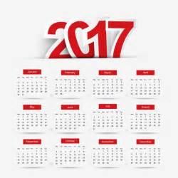 Calendario 2018 Imagen Calendario 2017 Sencillo Descargar Vectores Gratis