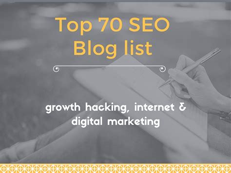 top 70 seo list for growth hacking and digital marketing yodiz project