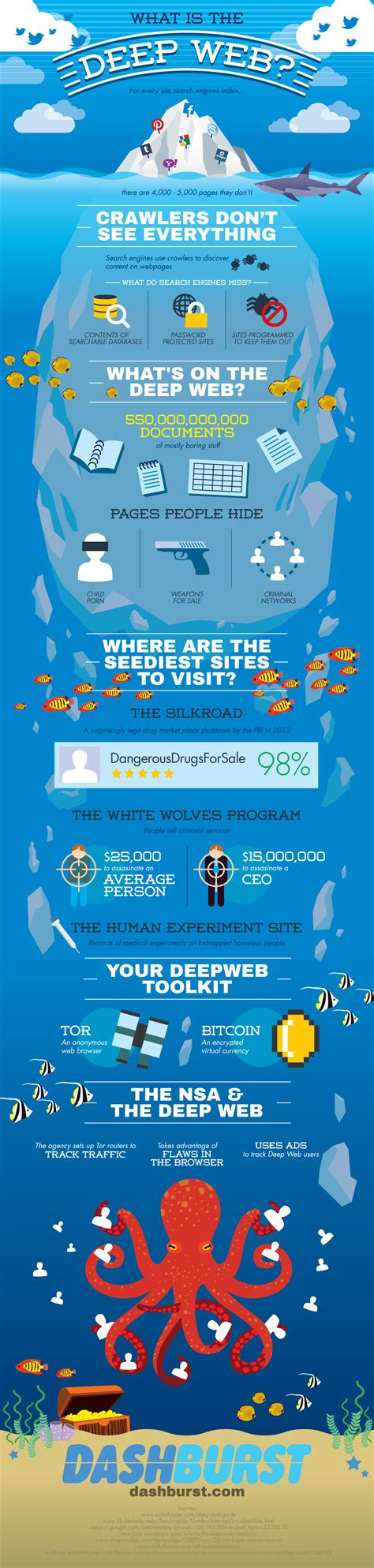 What is the deep web infographic