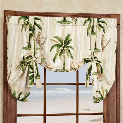 Palm Tree Valance tropica palm tree tie up window valance