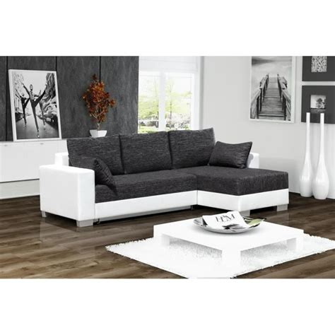 canape d angle 3 place canap 201 d angle convertible 3 places en simili cuir blanc