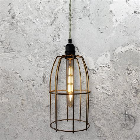 wire cage pendant light wire cage pendant light clb 00519 e2 contract lighting uk