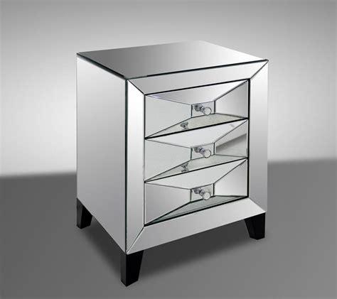 Modern Mirrored Nightstands warwick contemporary mirrored nightstand