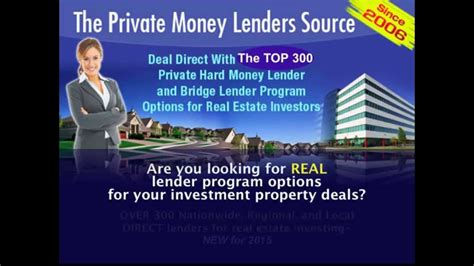 private money lenders who they are how to find them 2015 private money lenders source youtube