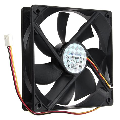 small pc fans aliexpress com buy 12v 3pin 120mmx120mmx25mm silen t