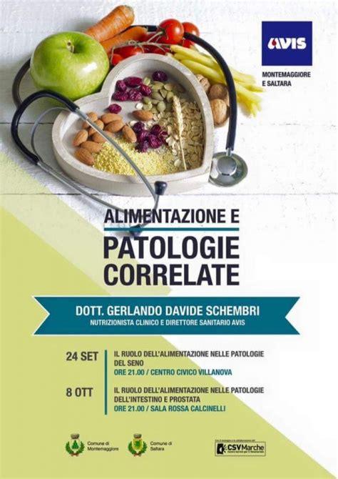 alimentazione e patologie alimentazione e patologie correlate due incontri con l
