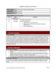 Scope Statement Template best photos of project scope document sle project management scope statement exle