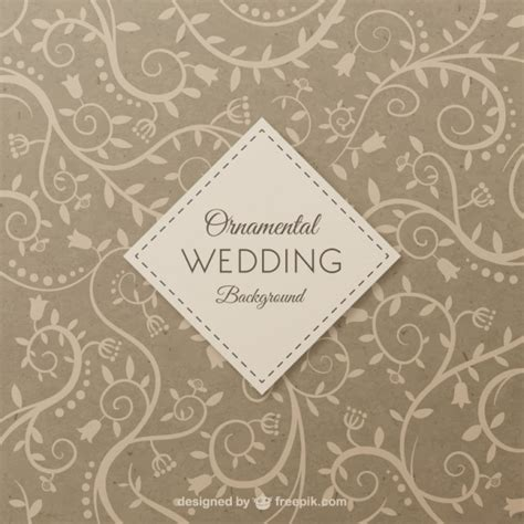 Wedding Background Vector by Ornamental Wedding Background Vector Free
