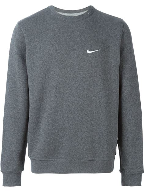 Sweatshirt Mix 3 Picture 4 lyst nike club crew sweatshirt in gray for