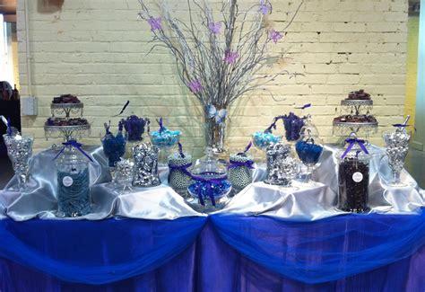 royal blue candy buffet candy bar party ideas