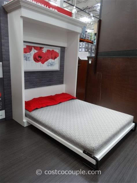costco queen bed bestar evolution queen size wall bed