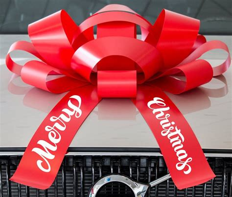 giant merry christmas car bow  magnetic base