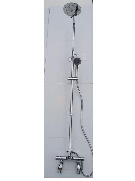 Thermostatic Bath Mixer Shower deck thermostatic bath shower mixer taps rigid riser