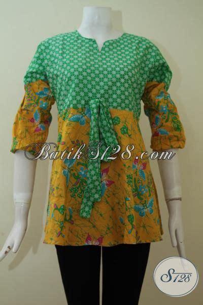 Baut L Kerucut Warna Hijau batik atasan kombinasi hijau kuning warna cantik model keren bls2277p l toko batik 2018