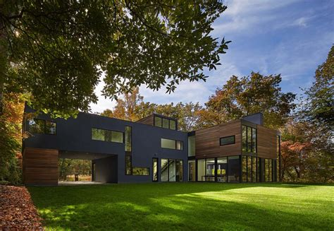 modern home design laurel md forested modern home in maryland offers views of potomac river