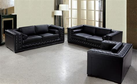 leather sofas sets dublin luxurious black leather sofa set